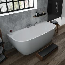 Hoesch iSENSI Vorwand-Badewanne mit Verkleidung ohne Wanneneinlauf