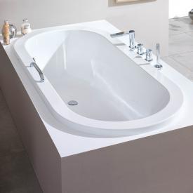 Hoesch SCELTA Oval Badewanne, Überlauf links weiß