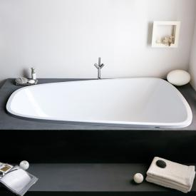 Hoesch SINGLEBATH Duo Oval-Badewanne, Einbau weiß