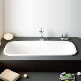 Hoesch SINGLEBATH Uno Oval-Badewanne, Einbau weiß