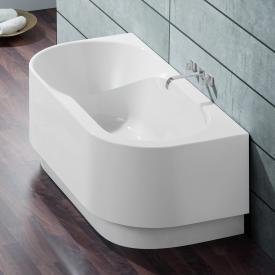 Hoesch SPECTRA Halbrunde Badewanne mit Schürze weiß