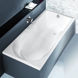 Hoesch SPECTRA Rechteck-Badewanne mit Duschzone, Einbau weiß