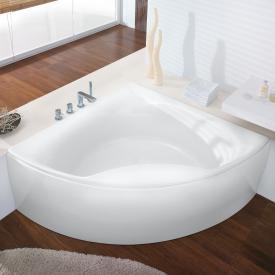 Hoesch SQUADRA Eck-Badewanne mit Verkleidung weiß
