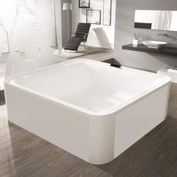 Hoesch ERGO Rechteck Badewanne, freistehend weiß, Verkleidung: Acryl weiß/Glas weiß