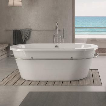 Hoesch PHILIPPE STARCK Edition 1 freistehend Badewanne weiss ohne Bohrung