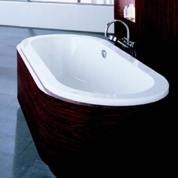 Hoesch SCELTA Oval Badewanne, Überlauf rechts weiß