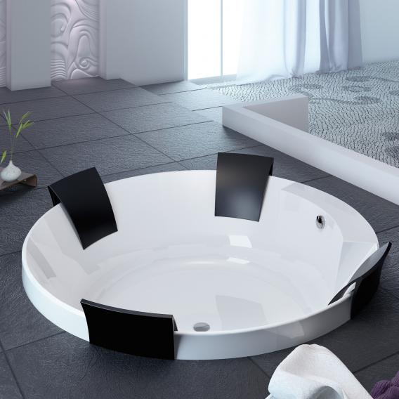 Hoesch AVIVA Rund-Badewanne mit 4 Rückenstützen weiß