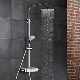 HSK AquaSwitch RS 200 Thermostat Shower-Set mit Kopfbrause flach weiß