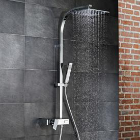 HSK AquaSwitch RS 500 Mix Einhebelmischer Shower-Set mit Kopfbrause flach schwarz