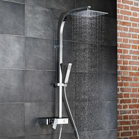 HSK AquaSwitch RS 500 Mix Einhebelmischer Shower-Set mit Kopfbrause super-flach schwarz