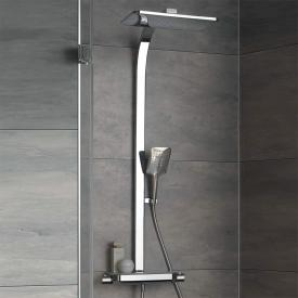 HSK AquaTray Thermostat Shower-Set mit Kopfbrause mit Schwall