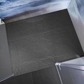 HSK Marmor-Polymer Rechteck-Duschwanne in Steinoptik, super-flach anthrazit