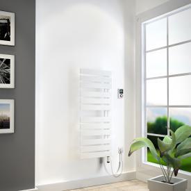 HSK Yenga Badheizkörper für rein elektrischen Betrieb weiß, 600 W, Heizstab weiß, Ausführung links