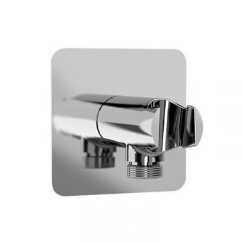 HSK Softcube Wandanschlussbogen mit integriertem Handbrausehalter