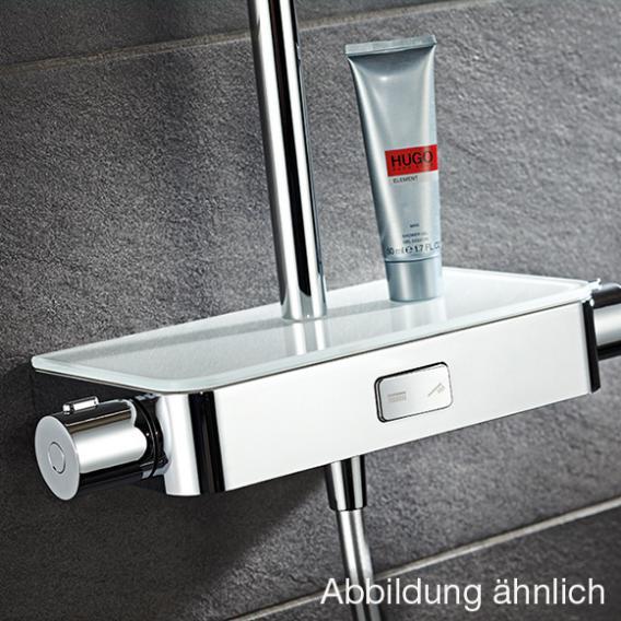 HSK AquaSwitch Softcube Einhebelmischer Shower-Set mit Kopfbrause super-flach weiß
