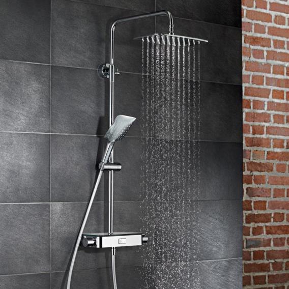 HSK AquaSwitch Softcube Thermostat Shower-Set mit Kopfbrause super-flach weiß