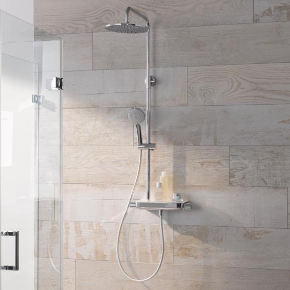 HSK AquaTray RS 200 Thermostat Shower-Set mit Kopfbrause flach