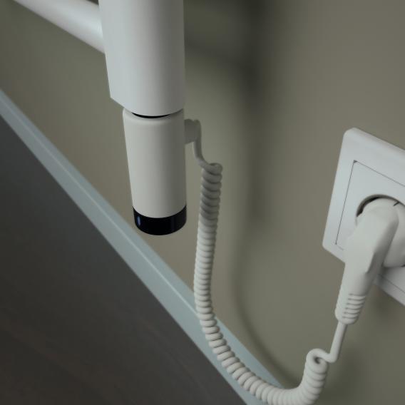 HSK Line Badheizkörper für rein elektrischen Betrieb weiß, 600 W, Heizstab links