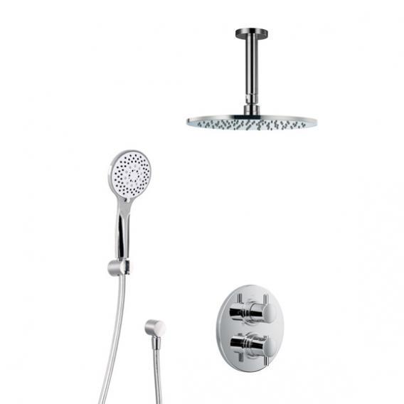 HSK Shower Set 1.04, mit Deckenarm, Kopfbrause flach