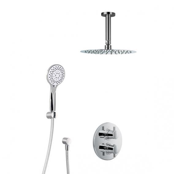 HSK Shower Set 1.04, mit Deckenarm, Kopfbrause super-flach