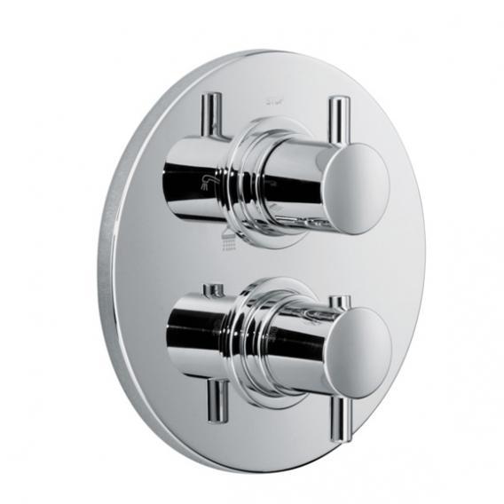 HSK Shower Set 1.04 mit Lavida Regentraverse für Glasaufnahme WALK IN edelstahl poliert