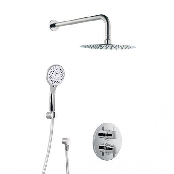 HSK Shower Set 1.04, Wandarm gebogen, Kopfbrause super-flach