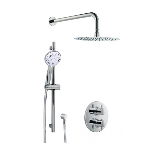 HSK Shower-Set 1.05, Wandarm gebogen, Kopfbrause super-flach
