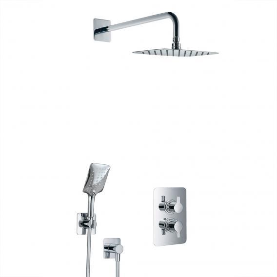 HSK Softcube Shower Set 2.04, Wandarm gebogen, Kopfbrause super-flach