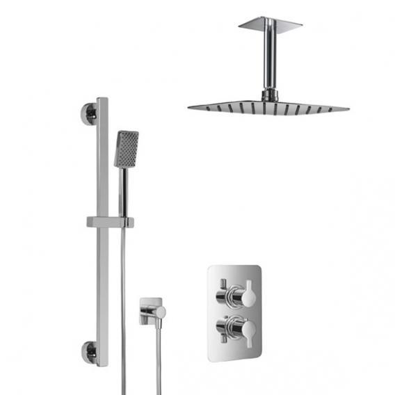 HSK Softcube Shower Set 2.05, mit Deckenarm, Kopfbrause super-flach
