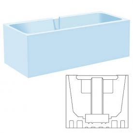 poresta systems Poresta Compact Wannenträger für Kaldewei Puro Duo Rechteck-Badewanne