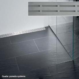 poresta systems Rost für Ablaufrinne Design D L: 77 B: 8 H: 1,2 cm
