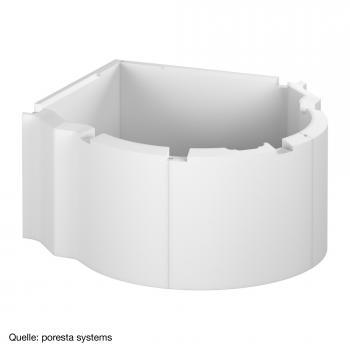 poresta systems Poresta Compact Wannenträger für Hoesch Aviva Runde Badewanne