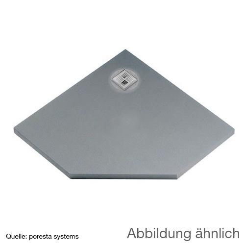 poresta systems BF KMK Duschelement, dezentrierter Ablauf, fünfeckig
