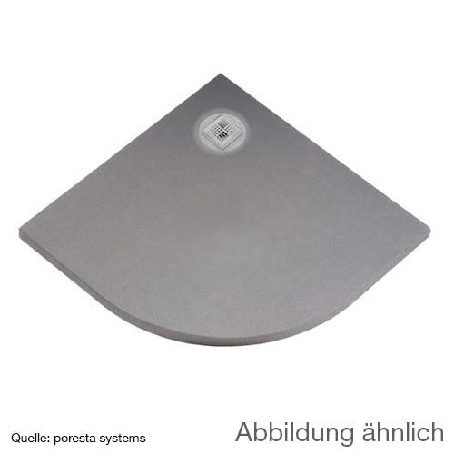 poresta systems BF KMK Duschelement, dezentrierter Ablauf, Viertelkreis