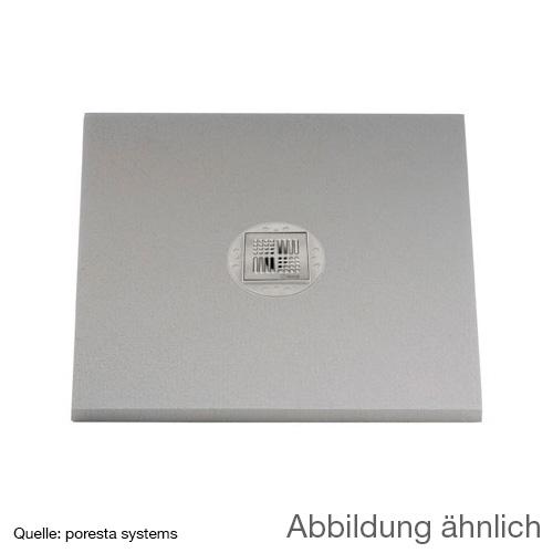 poresta systems BF KMK Duschelement, zentrierter Ablauf, rechteckig