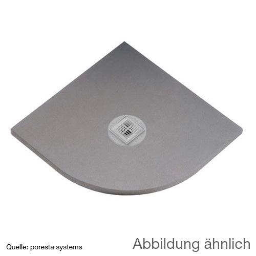 poresta systems BF KMK Duschelement, Viertelkreis, zentrierter Ablauf