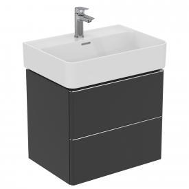 Ideal Standard Adapto Waschtischunterschrank mit 2 Auszügen Front anthrazit matt / Korpus anthrazit matt