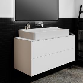 Ideal Standard Conca Waschtischunterschrank mit 2 Auszügen und 1 Ausschnitt Front weiß matt / Korpus weiß matt