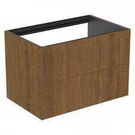 Ideal Standard Conca Waschtischunterschrank für Konsole mit 2 Auszügen Front walnuss dunkel / Korpus walnuss dunkel
