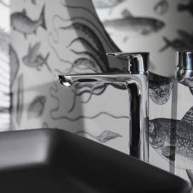 Ideal Standard Connect Air Einhebel-Waschtischarmatur mit verlängertem Sockel mit BlueStart mit Ablaufgarnitur