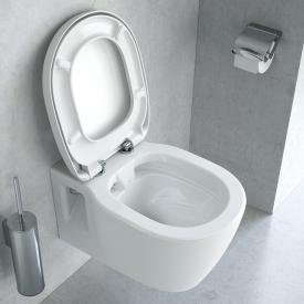 Ideal Standard Connect Wand-Tiefspül-WC weiß, ohne Spülrand, mit WC-Sitz weiß, mit Ideal Plus