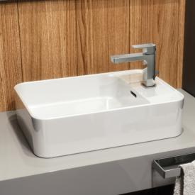 Ideal Standard Strada II Aufsatzwaschtisch Hahnlochbank seitlich weiß