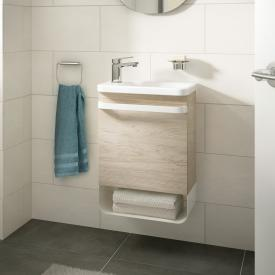 Ideal Standard Tonic II Waschtisch-Unterschrank für Handwaschbecken Front pinie hell dekor/ Korpus pinie hell dekor