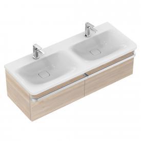 Ideal Standard Tonic II Waschtischunterschrank für Doppelwaschtisch mit 2 Auszügen Front pinie hell dekor/ Korpus pinie hell dekor