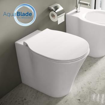 Ideal Standard Connect Air Stand-Tiefspül-WC, AquaBlade weiß ohne Beschichtung
