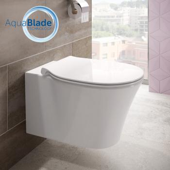Ideal Standard Connect Air Wand-Tiefspül-WC, AquaBlade weiß mit Ideal Plus