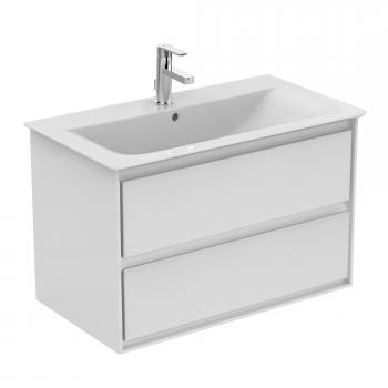 Ideal Standard Connect Air Waschtisch-Unterschrank mit 2 Auszügen weiß glänzend/weiß matt