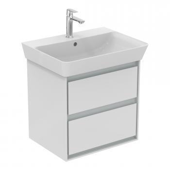 Ideal Standard Connect Air Waschtischunterschrank mit 2 Auszügen Front weiß glanz / Korpus hellgrau matt/weiß glanz