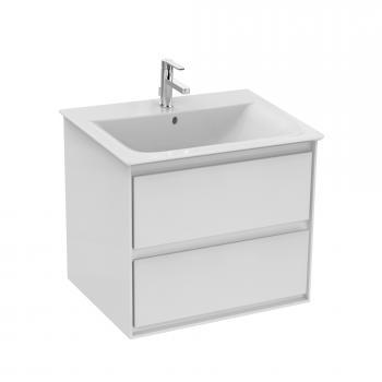 Ideal Standard Connect Air Waschtischunterschrank mit 2 Auszügen weiß glänzend/weiß matt