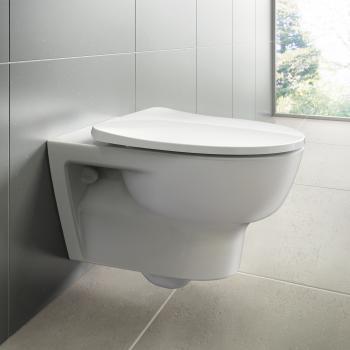 Ideal Standard Connect E Wand-Tiefspül-WC, ohne Spülrand, mit WC-Sitz weiß